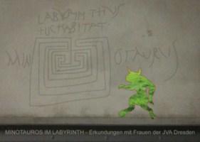 Minotaurus im Labyrinth